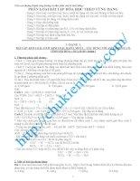 Tài liệu bồi dưỡng học sinh giỏi hóa lớp 9