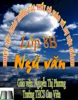 TIẾT 38: NGỮ VĂN 8 - ÔN TẬP TRUYỆN KÍ VIẸT NAM