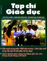Tạp chí giáo dục ( số 257 kì 1 tháng 3/2011)