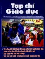 Tạp chí giáo dục ( số 258 kì 2 tháng 3/2011)