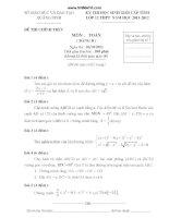 đề HSG toán 12 quảng ninh bảng B