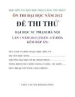 de thi thu toan ĐHSP Hà Nội lần 1 năm 2012