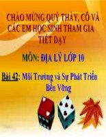 Bai 10: Moi Truong va Su Phat Trien Ben Vung