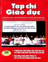 Tạp chí giáo dục ( Số 266 kì 2 tháng 7/2011 ) (