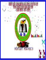 Tiết 39- Sơ lược bảng hệ thống tuần hoàn các nguyên tố hóa học