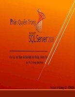 Phân quyền người dùng trong SQL Server 2008