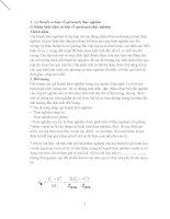 Lý thuyết cơ bản về qui hoạch thực nghiệm