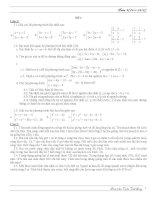 Đề toán lớp 9 hoc ky 1