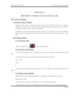 tìm hiểu cơ bản về matlab và gui