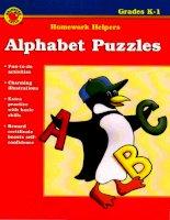 alphabet puzzles grades k-1