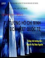 Tư tưởng Hồ Chí Minh về đoàn kết quốc tế