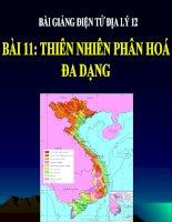 bài giảng địa lý 12 bài 11 thiên nhiên phân hóa đa dạng