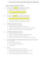NGÂN HÀNG ĐỀ THI MÔN TRUYỀN HÌNH SỐ ( có đáp án)