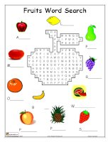 FRUIT WORD SEARCH