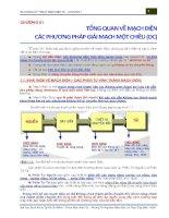 Chương 1 Tổng quan về mạch điện Các phương pháp giải mạch 1 chiều DC