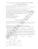 Đề và giải chi tiết môn Hóa năm 2009