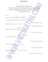 Tuyển chọn các bài tập phương trình hệ phương trình bất phương trình trong đề thi HSG tỉnh thành phố