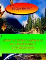 bài giảng sinh học 7 bài 53 môi trường sống và sự vận động, di chuyển