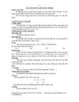 Chuyên đề liên kết hydro (hay)