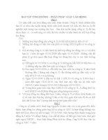 Bài tập tình huống phần Pháp luật lao động