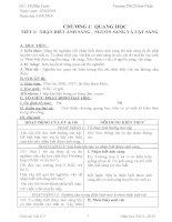 Giáo án Vật lí lớp 7 (CKTKN)