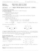 Giáo án dạy thêm vật lý 11 chuẩn