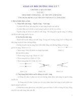 Giáo án bồi dưỡng HSG vật lý 7