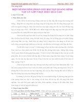 SKKN VAT LY 9: MỘT SỐ PHƯƠNG PHÁP GIẢI BÀI TẬP QUANG HÌNH  VẬT LÝ LỚP 9 ĐẠT HIỆU QUẢ CAO