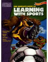 the complete book of learning with sports grade 3-4