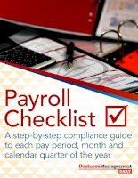 payroll checklist a step-by-step compliance guide to each pay period, month and calendar quarter of the year