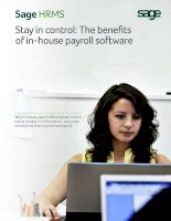 stay in control; the benefits of in-house payroll software