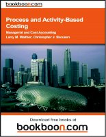 Process and Activity-Based Costing Managerial and Cost Accounting