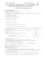 Hệ thống kiến thức vật lý lớp 12 và công thức tính nhanh bài tập trắc nghiệm