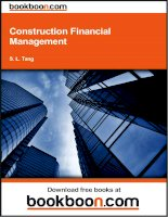 construction financial management