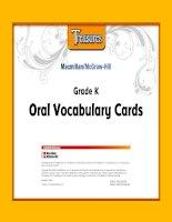 treasures oral vocabulary cards grade k