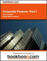 Corporate Finance Part I Cost of Capital