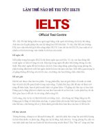 Làm thế nào để thi tốt  IELTS