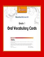 treasures oral vocabulary cards grade 1