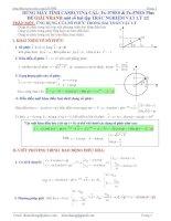 Dùng máy tính casio để giải nhanh một số bài tập trắc nghiệm vật lý lớp 12