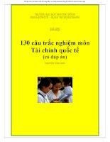 130 câu trắc nghiệm môn tài chính quốc tế có đáp án