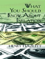 what you should know about inflation (second edition, c1965), by henry hazlitt