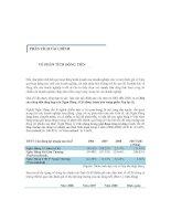 Phân tích dòng tiền ngân hàng