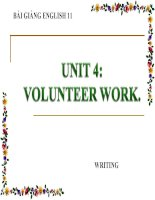 bài giảng tiếng anh 11 unit 4 volunteer work