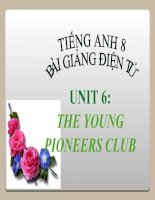 bài giảng tiếng anh 8 unit 6 the young pioneers club