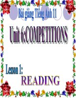 bài giảng tiếng anh 11 unit 6 competitions