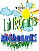 bài giảng tiếng anh 6 unit 15 countries