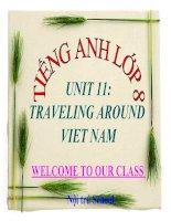 bài giảng tiếng anh 8 unit 11 traveling around vietnam