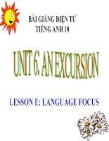 bài giảng tiếng anh 10 unit 6 an excursion