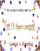 bài giảng tiếng anh 11 unit 15 space conquest