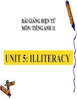 bài giảng tiếng anh 11 unit 5 illiteracy